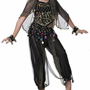 Girls Fortune Teller Gypsy Belly Dancer Costume.